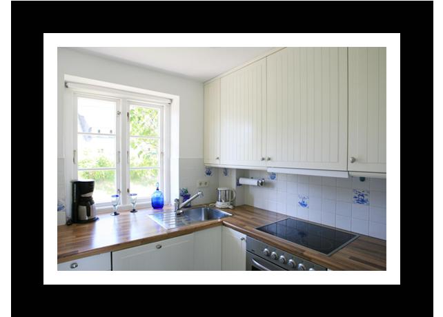 Küche im Badehus - Ferienwohnung auf Amrum