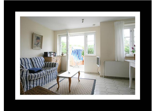Wohnzimmer kleine Wohnung Badehus - Ferienwohnung auf Amrum
